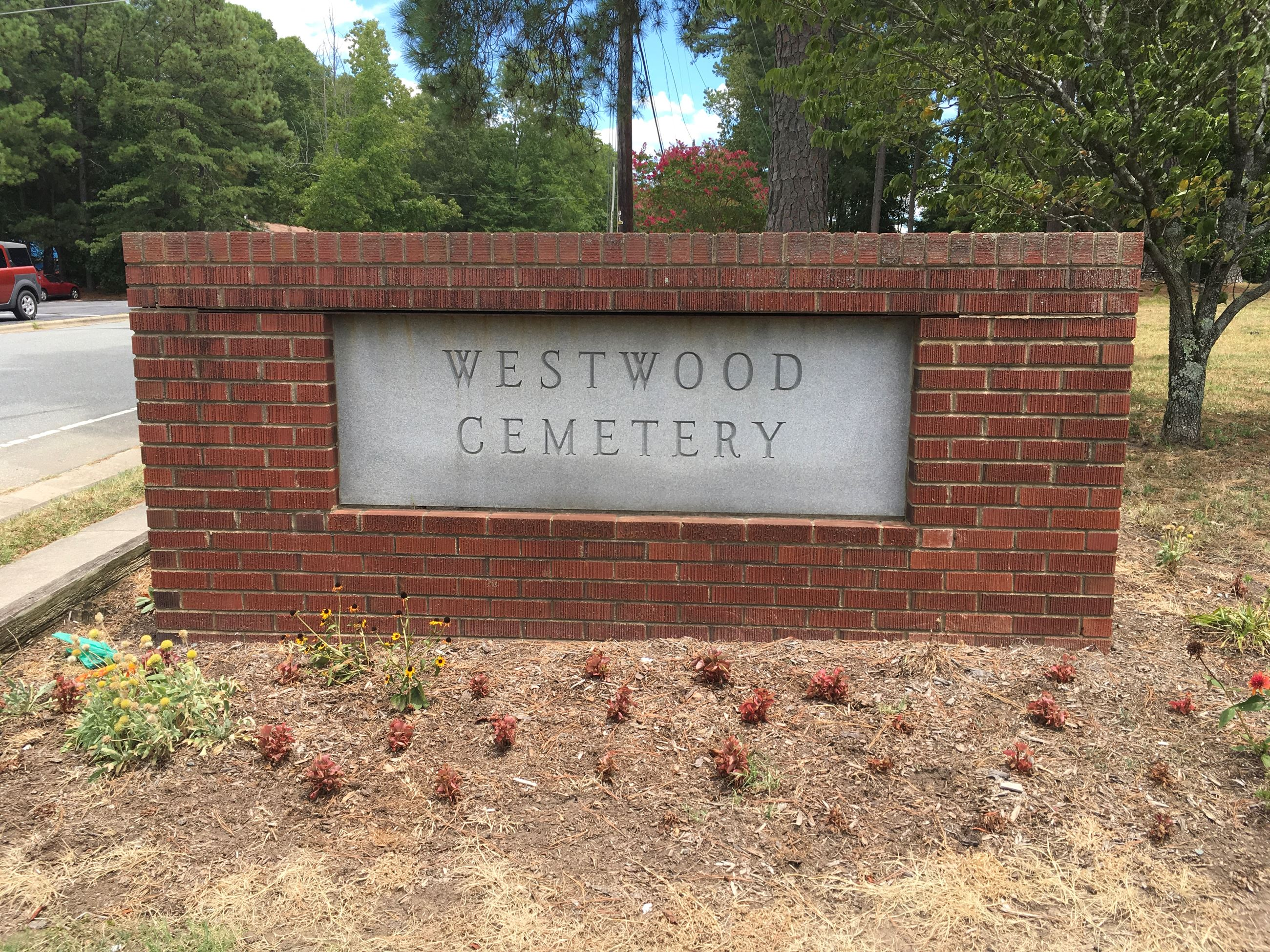Westwood Cemetery Sign